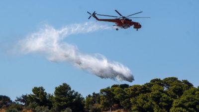 Πυροσβεστικό Ελικόπτερο για κατάσβεση πυρκαγιάς