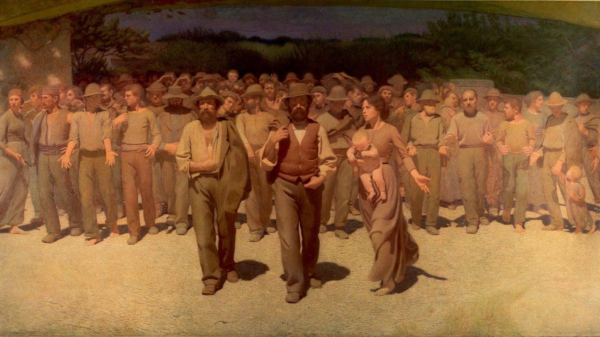 Πίνακας διαδήλωση 1900