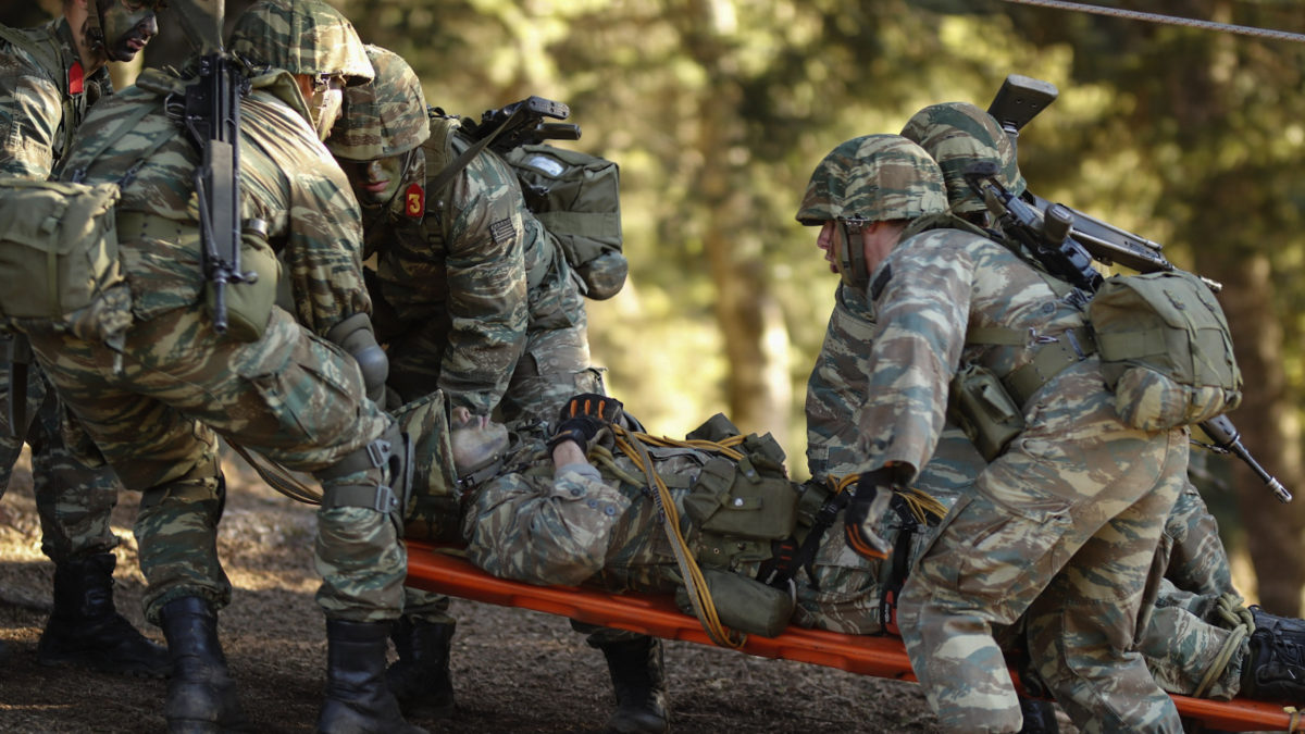 Ελληνικός Στρατός- Άσκηση σπουδαστών ΣΜΥ