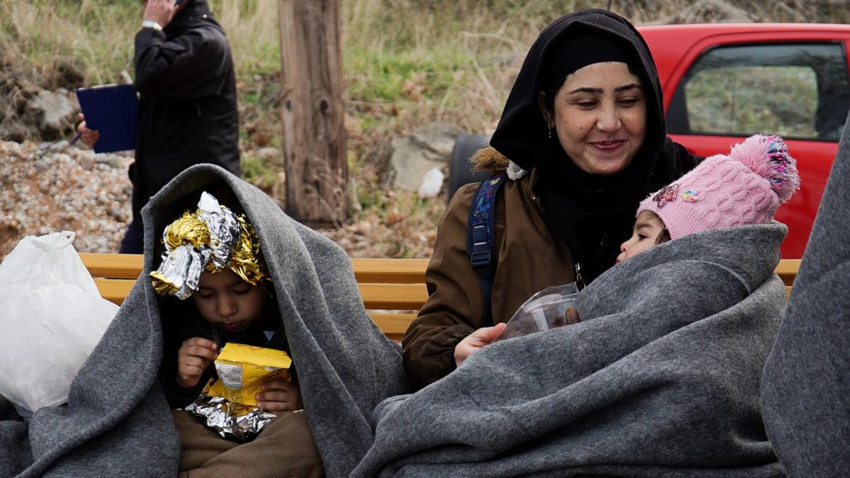 Πρόσφυγες - μάνα με παιδιά