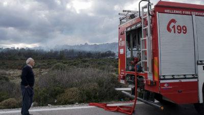 Πυροσβεστική στα επισοδια στη Λέσβο