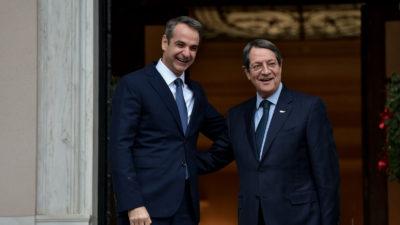 Συνάντηση του Έλληνα Πρωθυπουργού με τον Νίκο Αναστασιάδη