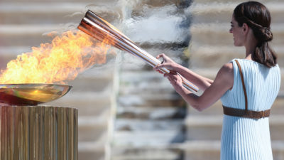 Τελετή Παράδοσης της Ολυμπιακής Φλόγας στην Ιαπωνία
