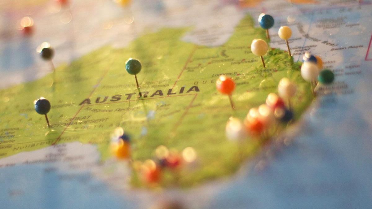 Αυστραλία-Χάρτης