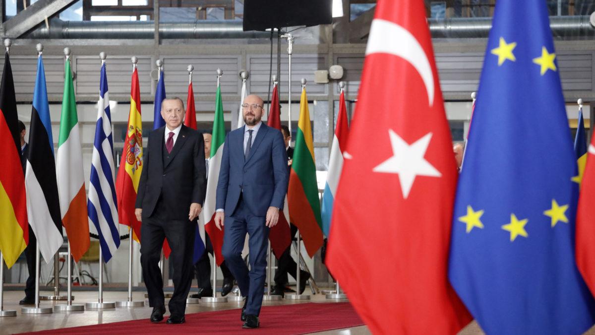 Συνάντηση του Προέδρου του Ευρωπαϊκού Συμβουλίου Σ. Μισέλ με τον Ρ.Τ. Ερντογάν