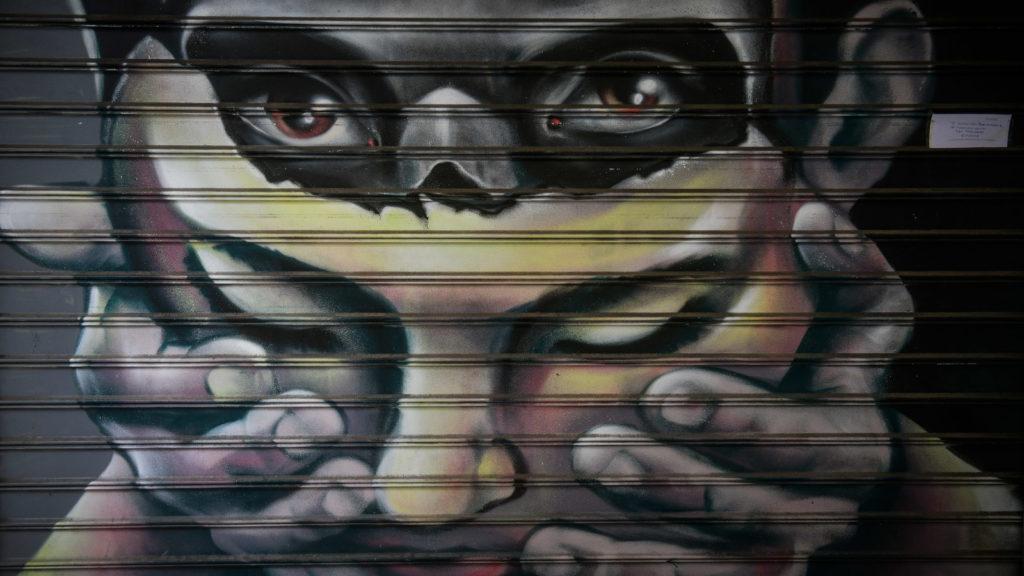 Γκράφιτι Μάσκα στην Αθήνα