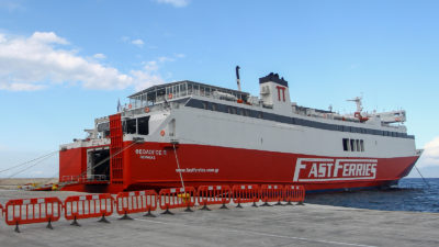 Πλοίο Θεολόγος Π. στη Ραφήνα / Πηγή: Eurokinissi