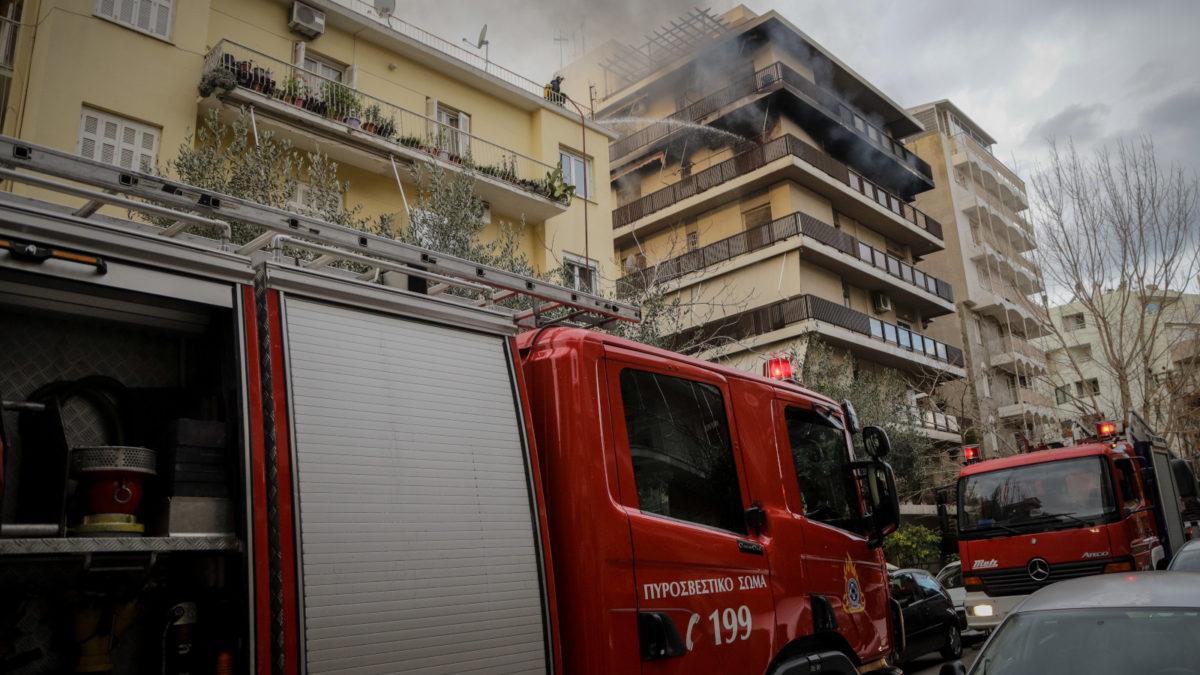 Πυρκαγιά σε διαμέρισμα2