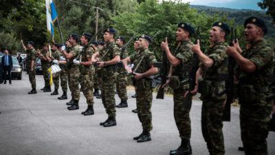 Στρατιώτες σε άγημα