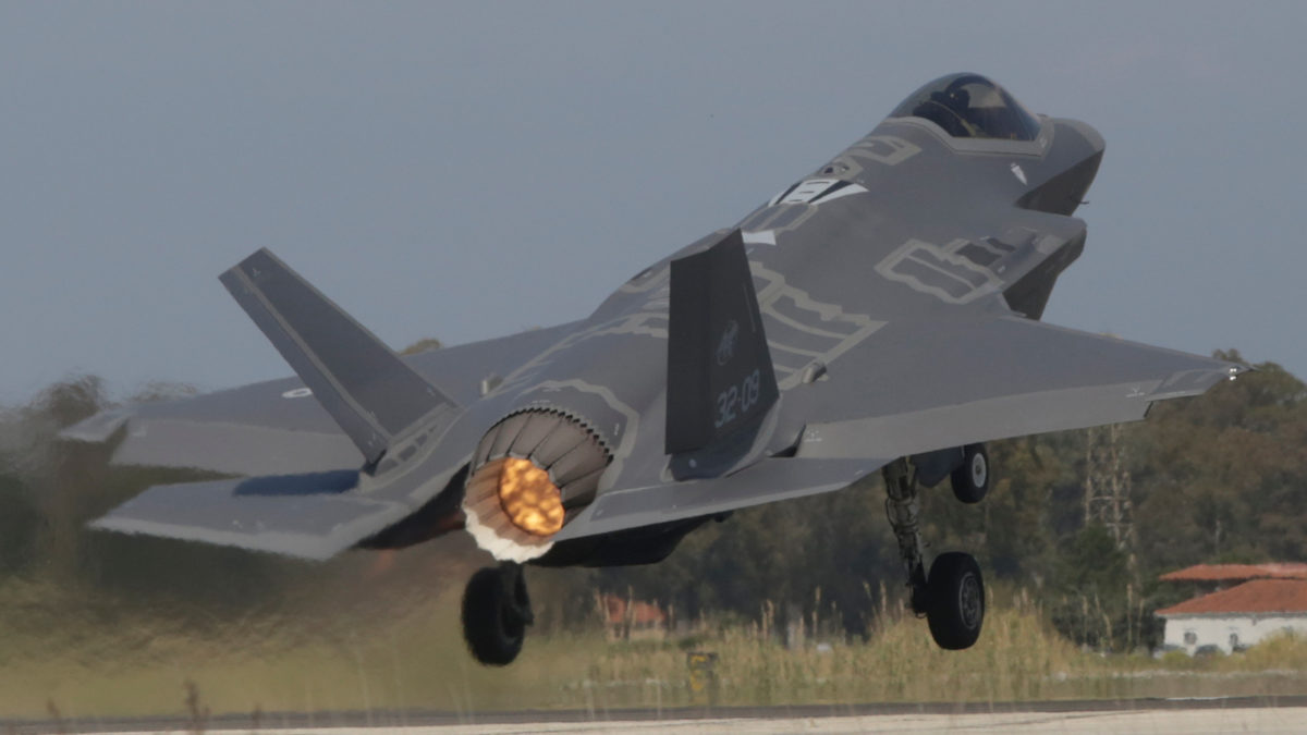Αμερικάνικο Μαχητικό F-35 στην 117ΠΜ - Ανδραβίδα