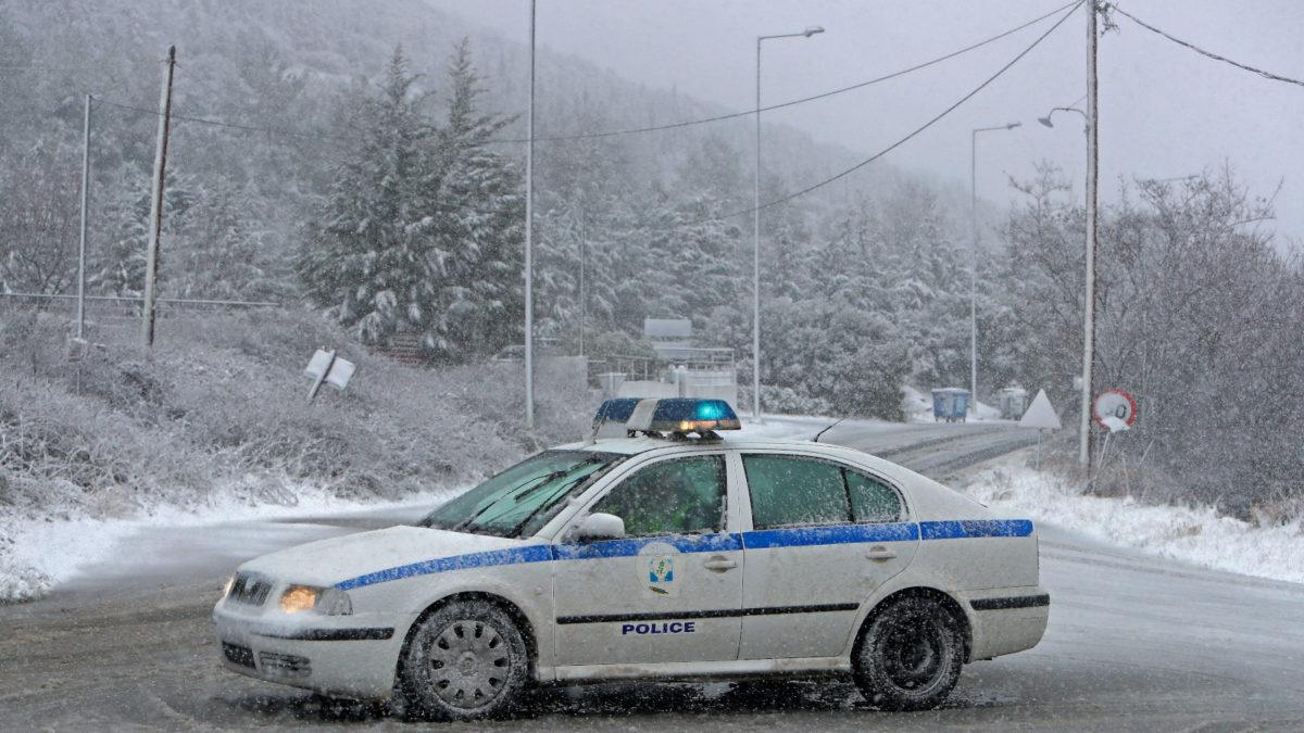 Χιονόπτωση σε Χορτιάτη Θεσσαλονίκης