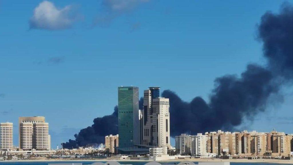 Βομβαρδισμός στο λιμάνι της Τρίπολης