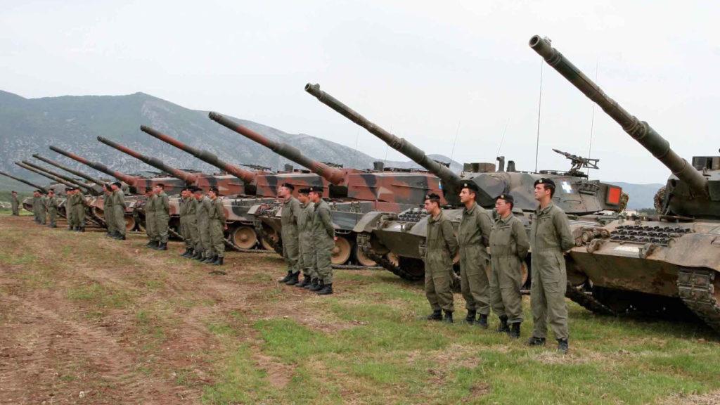 Στρατιώτες άρματα Πετροχώρι Ξάνθη