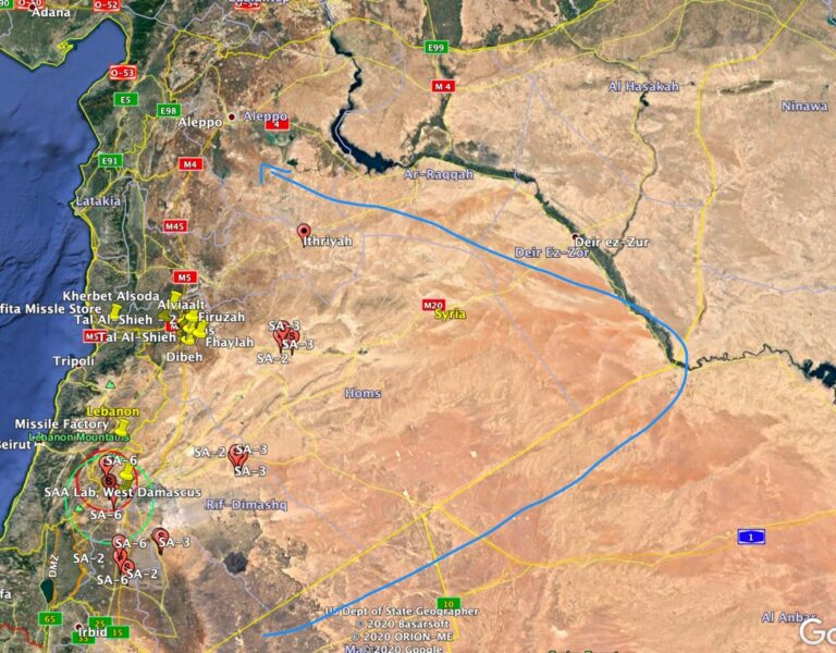Ισραηλινή πυραυλική επίθεση στη Συρία