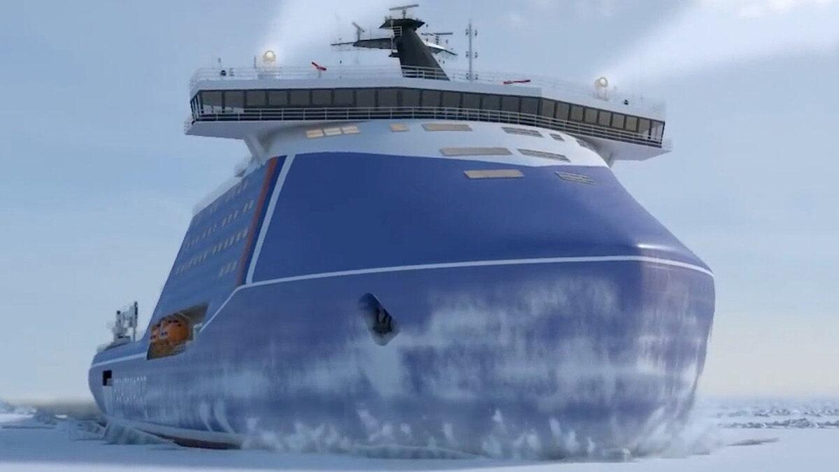 Σχέδιο 10510 - Νέο Ρωσικό Πυρινοκίνητο Παγοθραυστικό