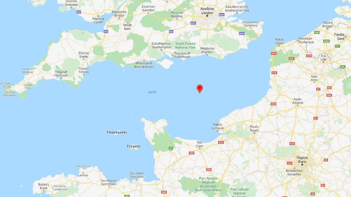 Χάρτης Στενό Μάγχης - English Channel