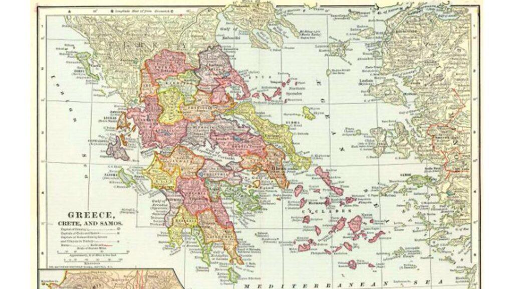 Ελλάδα - Χάρτης 1881