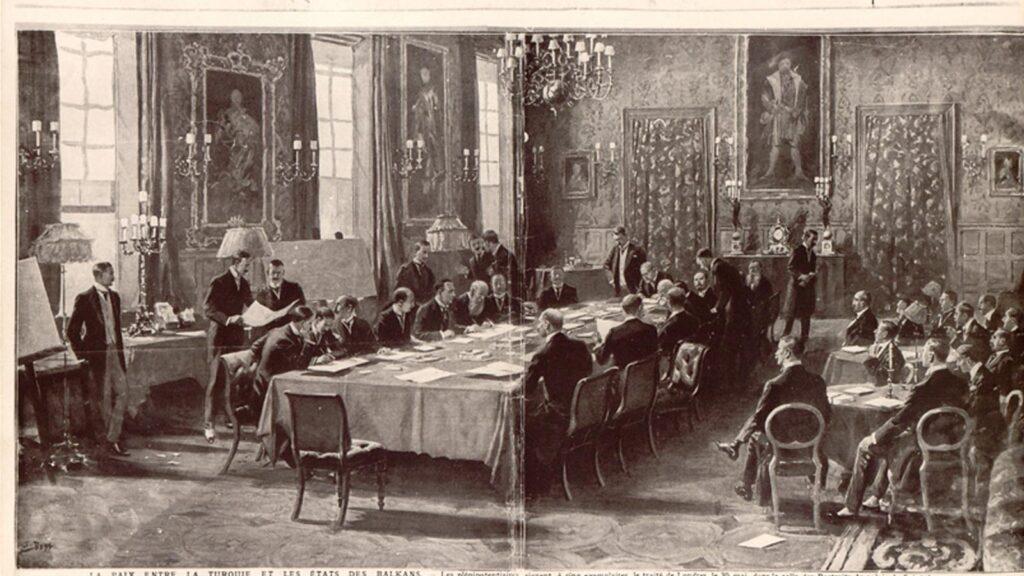 Η υπογραφή της Συμφωνίας του Λονδίνου 1913