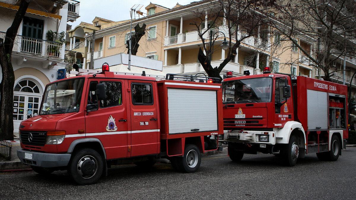 Οχήματα της Πυροσβεστικής Υπηρεσίας Κέρκυρας