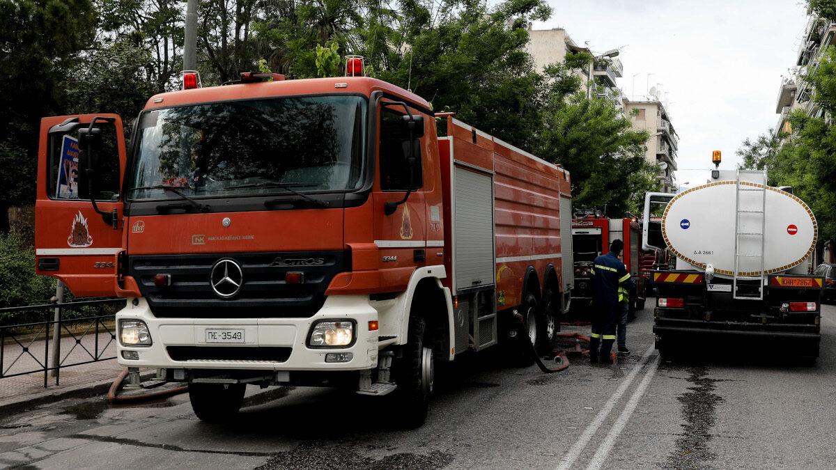 Οχήματα του 1ου Πυροσβεστικού Σταθμού Αθηνών