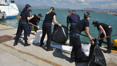 άσκηση αντιμετώπισης θαλάσσιας ρύπανσης του Λιμενικού Σώματος