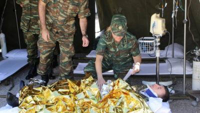 Στρατιωτικό Ιατρικό - νοσηλευτικό προσωπικό σε άσκηση