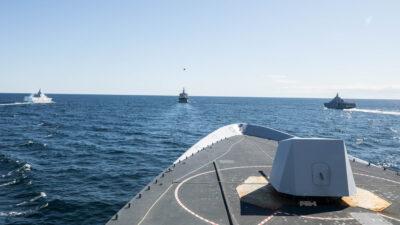 Πολεμικά Πλοία του ΝΑΤΟ SNMG2 με Σουηδικό Ναυτικό