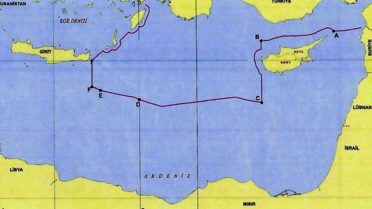 Τουρκία Χάρτης Καστελόριζο