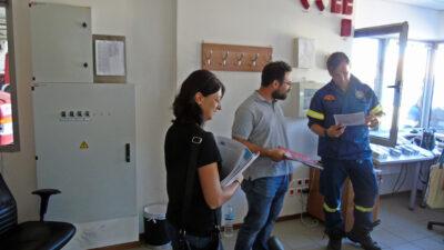 ΤΕ Λευκάδας ΚΚΕ- Επισκεψη στην Πυροσβεστικη