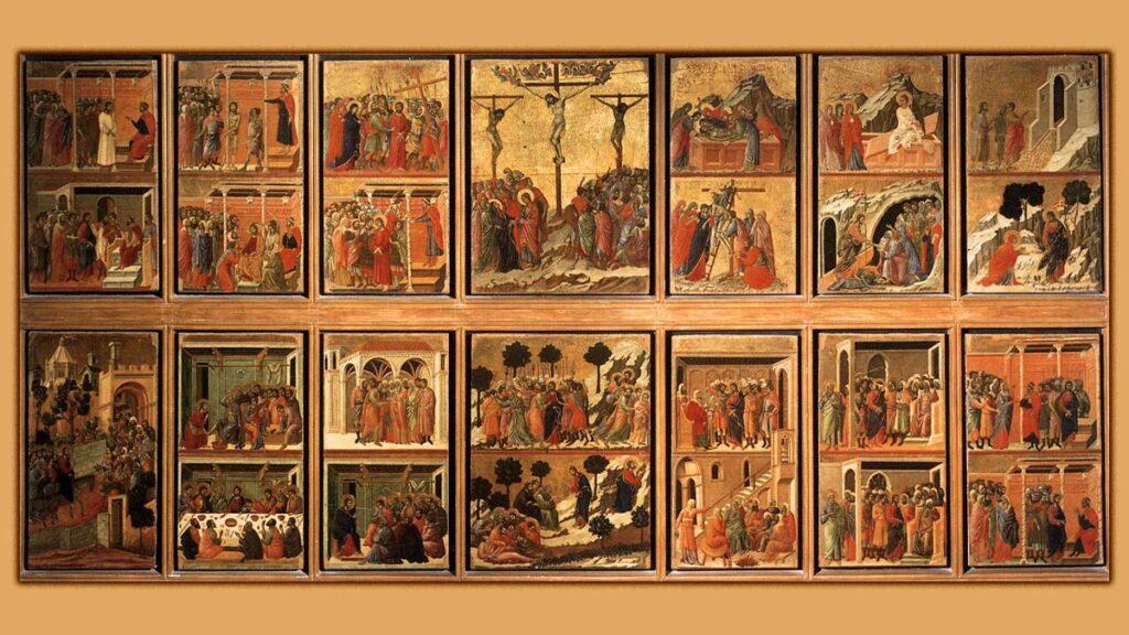 Ιταλία - Αναγέννηση - ρετάμπλ Maestà του Duccio di Buoninsegna
