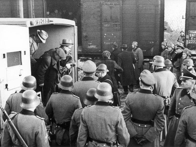 Β'ΠΠ - Ναζιστική Γερμανία - Γαλλία - Παρίσι - μεταφορά Εβραίων στο Άουσβιτς, 1942