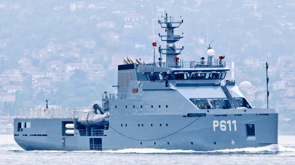 """Πλοίο Γενικής Υποστήριξης του Τυνισιακού Πολεμικού Ναυτικού """"Syphax"""" (P611)"""