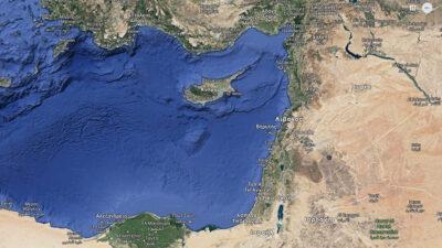 Χάρτης Ανατολικής Μεσογείου