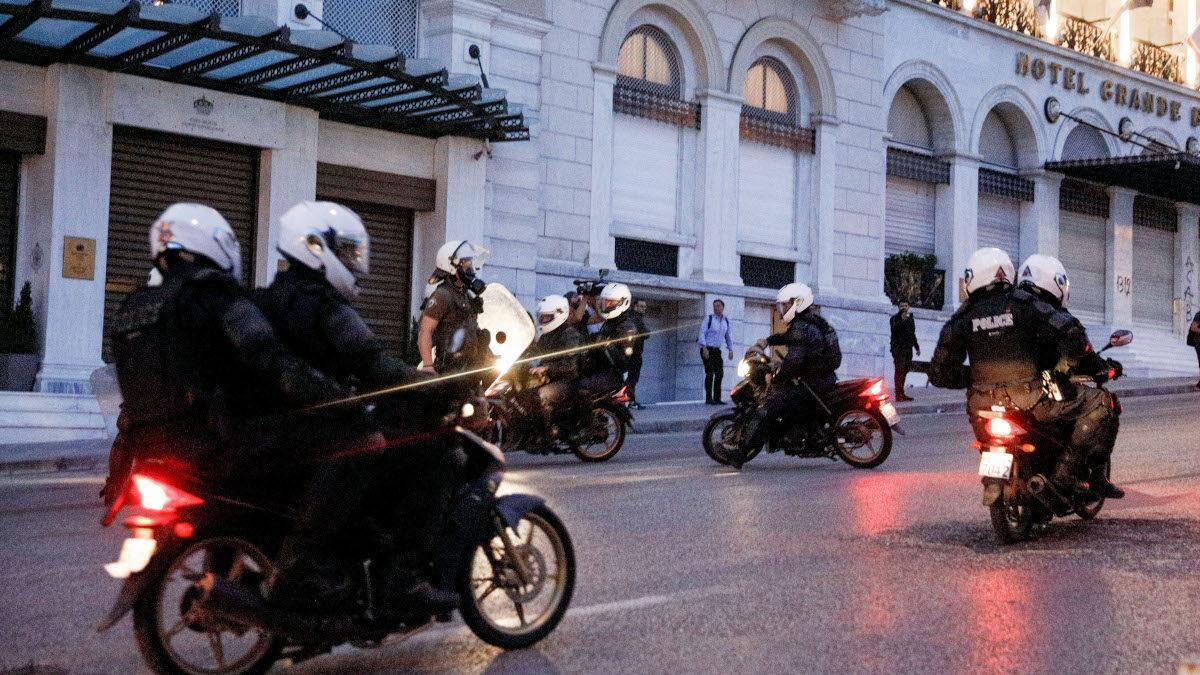 Δύναμη ΔΕΛΤΑ στο Σύνταγμα- Αστυνομία