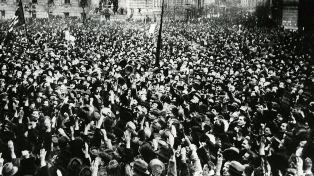 Από τις κινητοποιήσεις υπεράσπισης της επανάστασης στη Βουδαπέστη