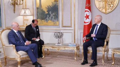 Συνάντηση Ν. Δένδια με τον Πρόεδρο της Τυνησίας Kais Saied