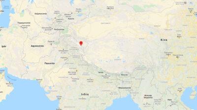 Χάρτης με τη διαφιλονικούμενη περιοχή Galwan μεταξύ Κίνας και Ινδίας