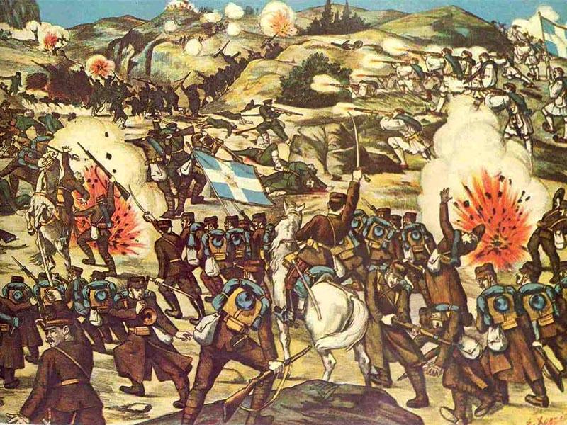 Β' Βαλκανικός Πόλεμος - Ελλάδα- Βουλγαρία - μάχη του Λαχανά, 1913