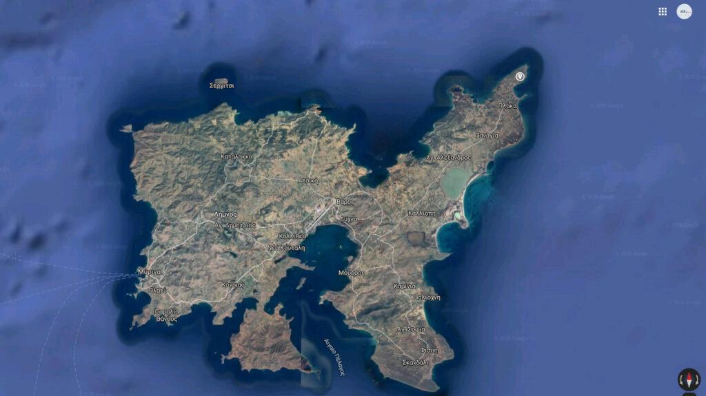 Νήσος Λήμνος Χάρτης