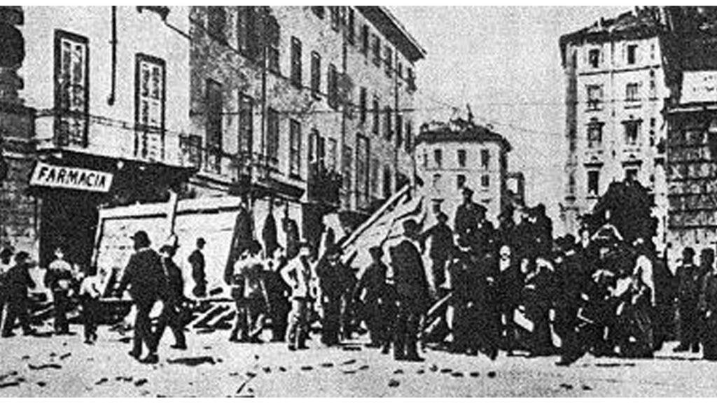 Ιταλία - Μιλάνο - εξέγερση, 1914