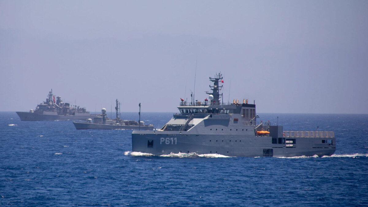 """Πλοίο Γενικής Υποστήριξης του Τυνισιακού Πολεμικού Ναυτικού """"Syphax"""" (P611) - Συνεκπαίδευση με Τουρκική Φρεγάτα στο πλαίσιο του ΝΑΤΟ (SNMG2"""