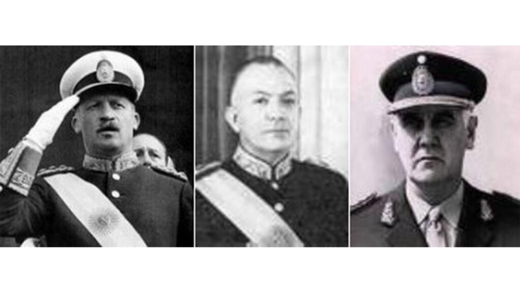 Αργεντινή - Χούντα, 1970 - αρχηγοί των ενόπλων δυνάμεων