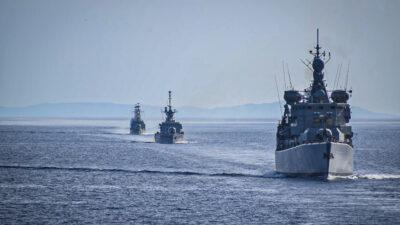 Άσκηση του Πολεμικού Ναυτικού-πλοίο