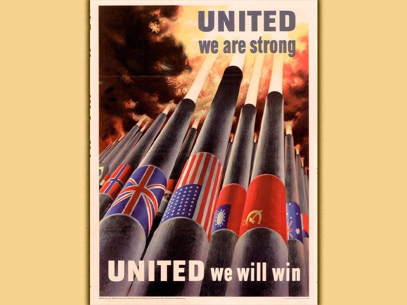 Β'ΠΠ - Συμμαχία κατά του Φασιστικού Άξονα - Πόστερ