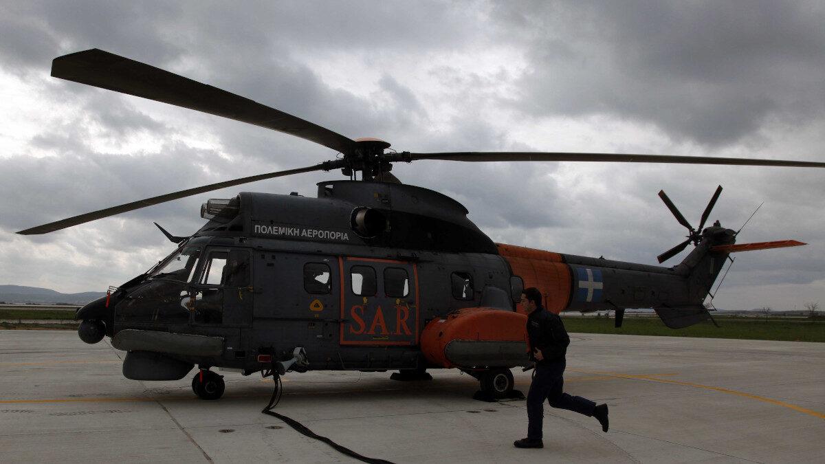 Ελικόπτερο Super Puma της Πολεμικής Αεροπορίας