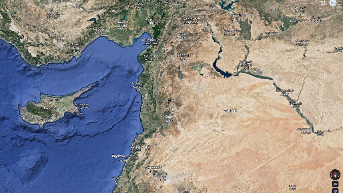 Χάρτης Συρίας