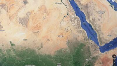 Χάρτης Βόρειο/Ανατολικής Αφρικής