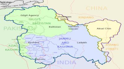 Χάρτης Κασμίρ Κίνα Ινδία