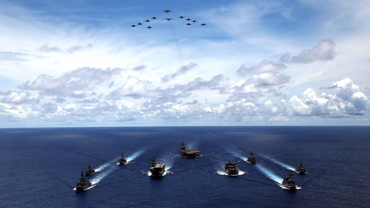 Η Αυστραλία, η Ιαπωνία, συμμετέχουν στις ΗΠΑ για τριμερή ναυτική άσκηση στη Θάλασσα τω Φιλιππίνων