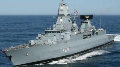 """Φρεγάτα """"Αμβούργο"""" του Γερμανικού Πολεμικού Ναυτικού"""
